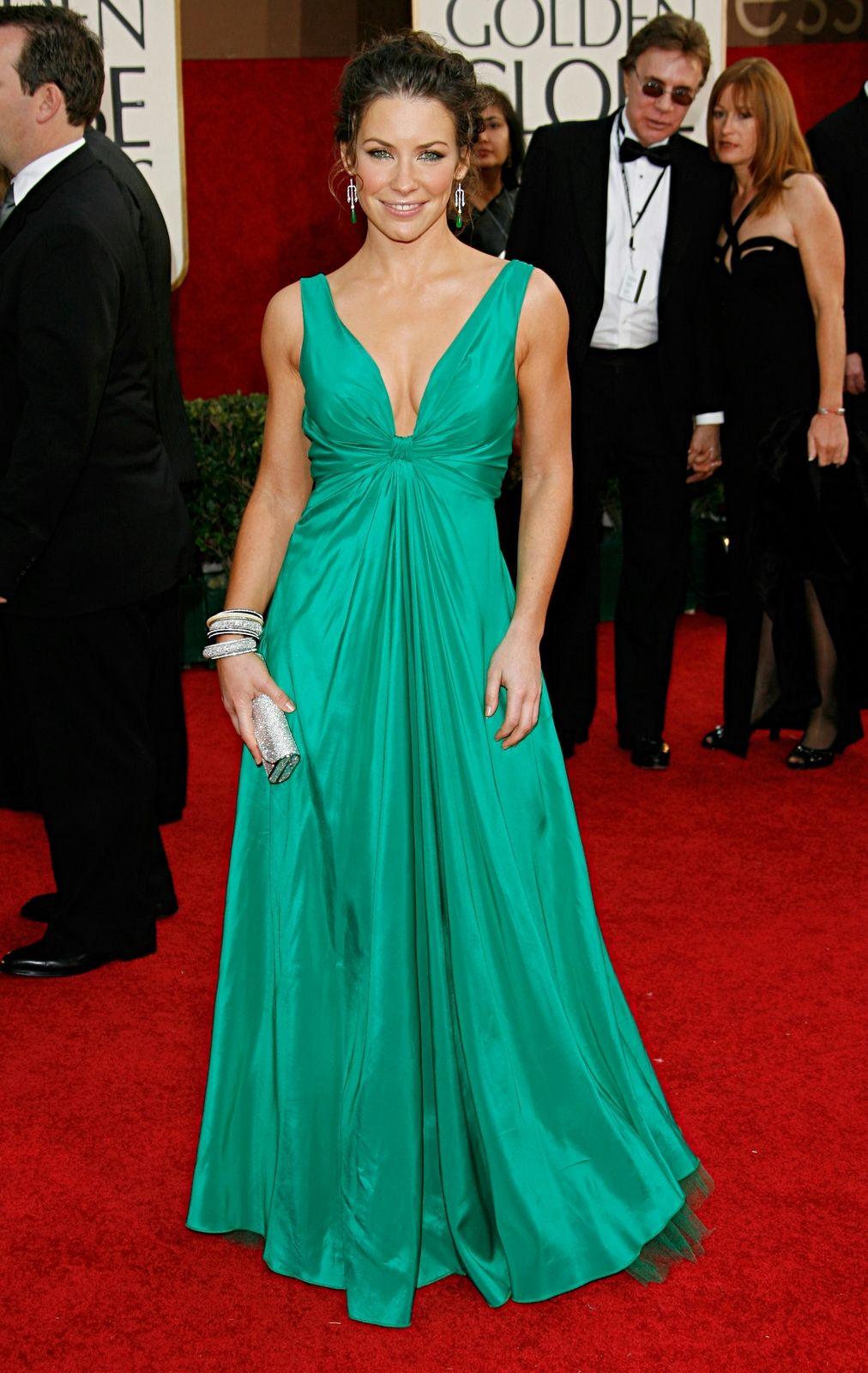 Evangeline Lilly in Elie Saab — 2006 Golden Globes