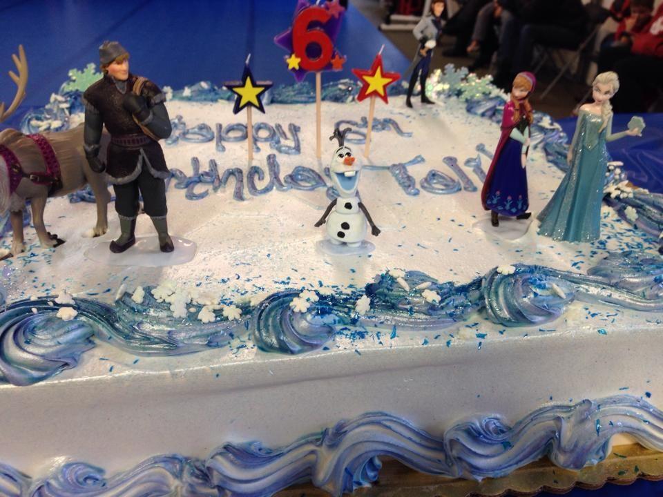 Disneys Frozen Birthday Cake Frozen Elsa Anna Olaf Sandra