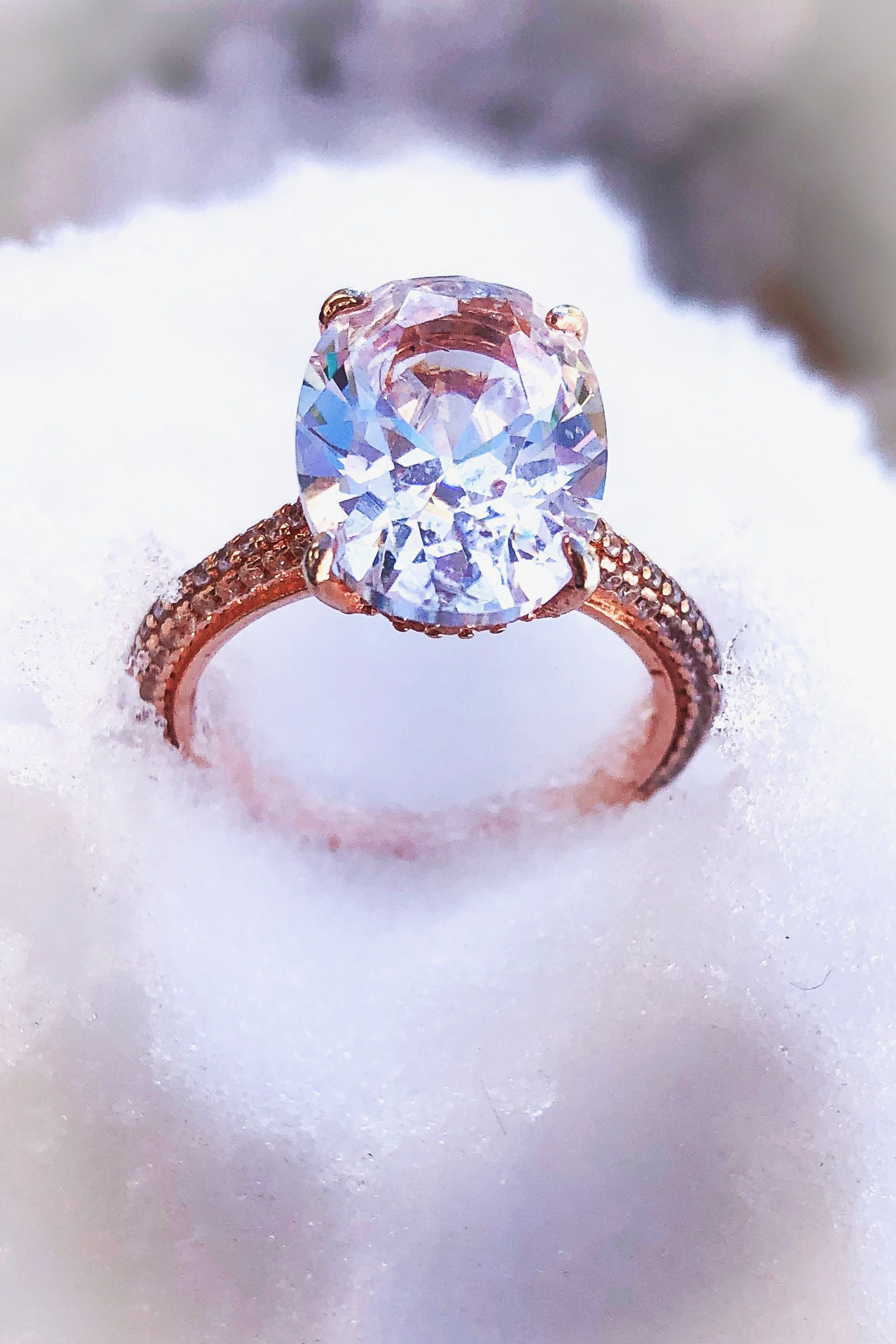 This Ring Is Conflict Free Eco Friendly And A Financially Savvy Decision Not To Mention Simulated Diamond Rings Fake Wedding Rings Lab Created Diamond Rings