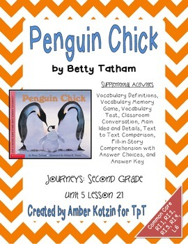 Penguin chick supplemental activities 2nd grade journeys unit 5 penguin chick supplemental activities 2nd grade journeys unit 5 lesson 21 vocabulary practice test graphic organizers and comprehension test fandeluxe Images