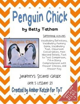 Penguin Chick Supplemental Activities 2nd Grade Journeys ...
