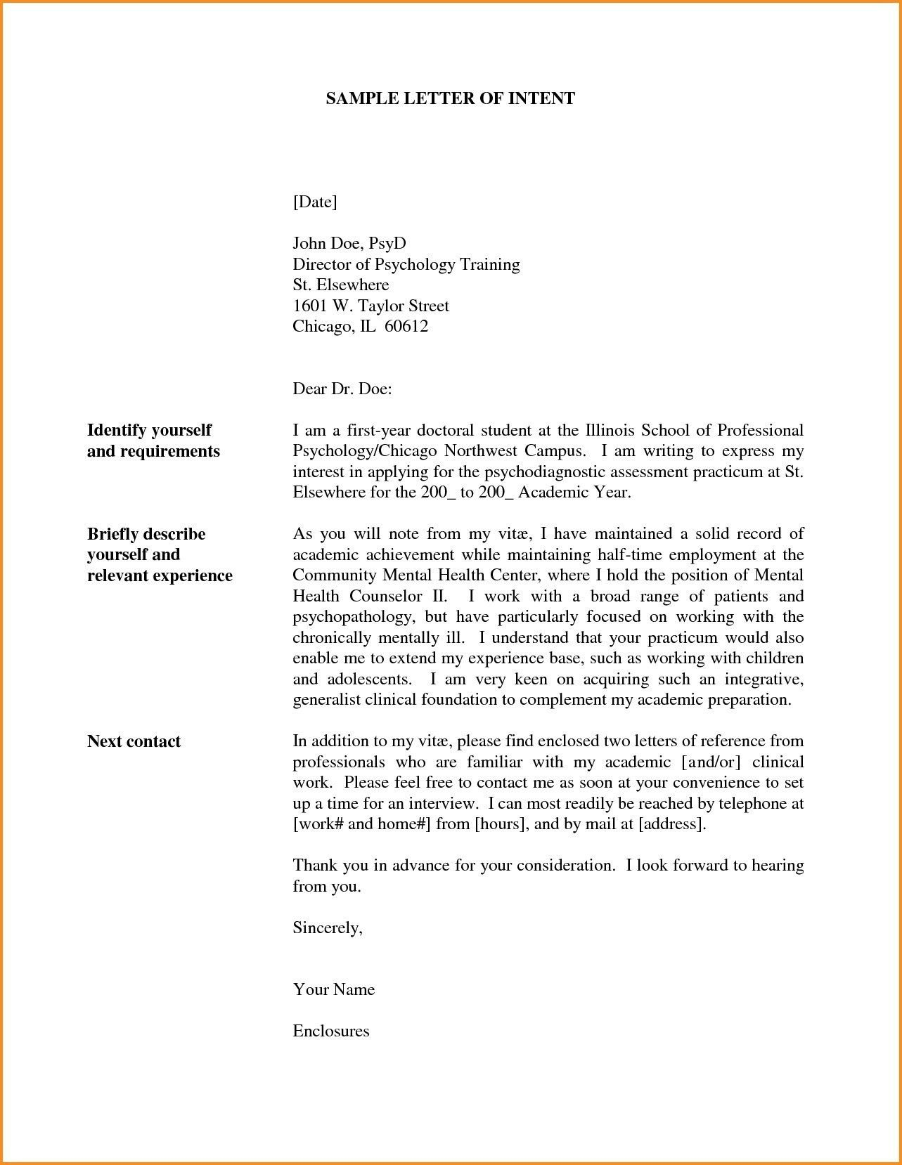 New Letter Of Intent To Transfer Job Letter Of Intent Lettering