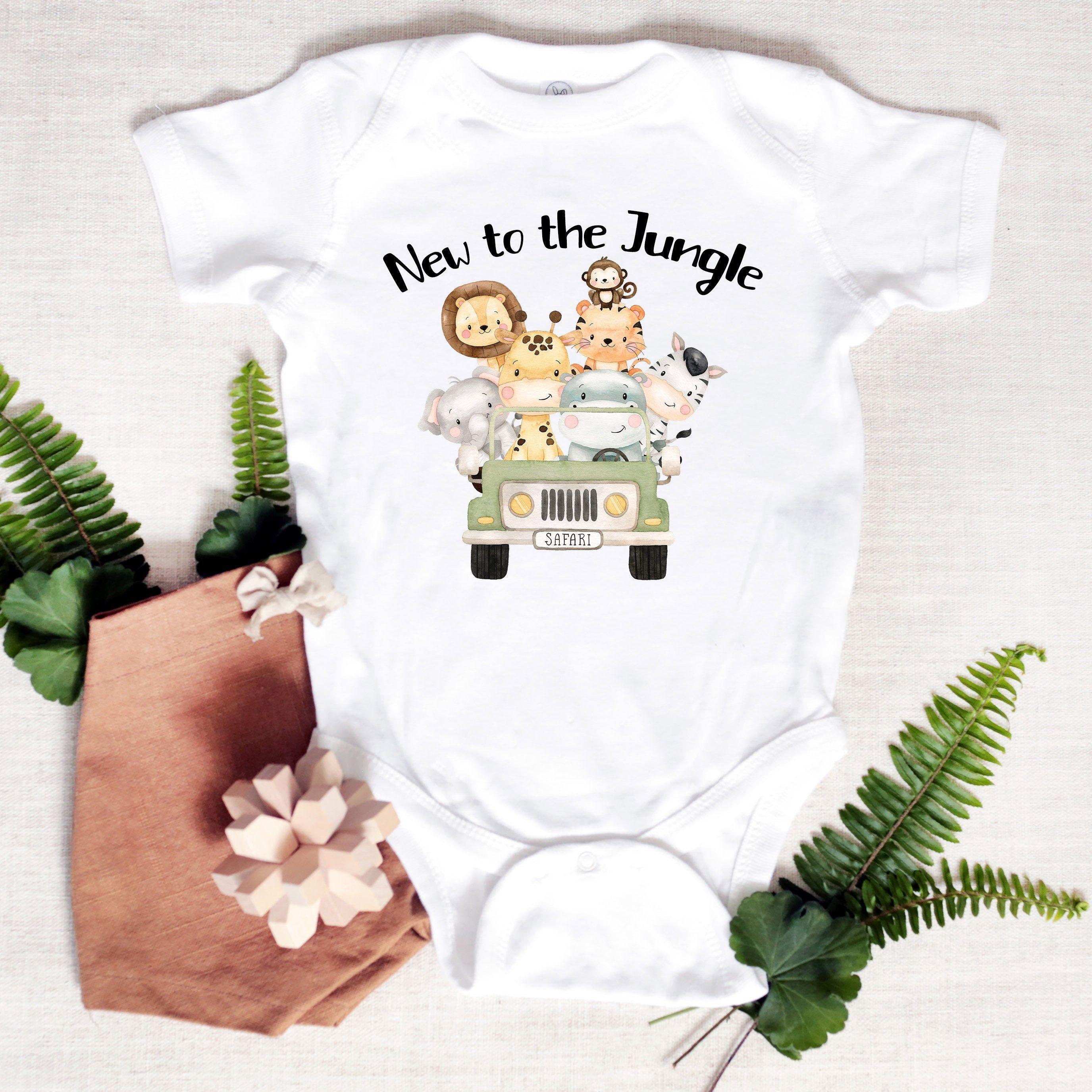 New to the Jungle, Safari baby clothes, Newborn safari