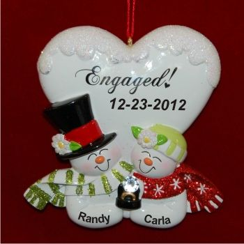 Blissful Engagement Christmas Ornament | Engagement ornaments ...