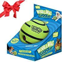 Interactive Dog Toys Wobble Wag Giggle Ball, Interactive Dog Toy, Fun Giggle Sounds When Rolled or Shaken, Pets