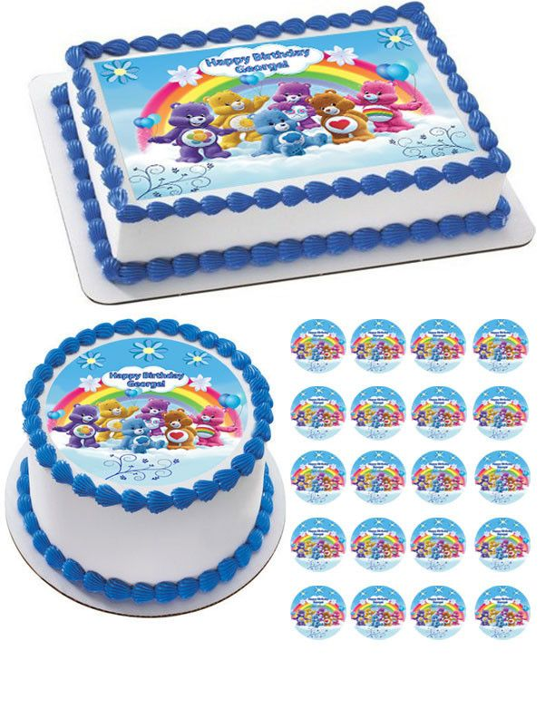 Miraculous Care Bears Edible Birthday Cake Topper Or Cupcake Topper Decor Funny Birthday Cards Online Sheoxdamsfinfo