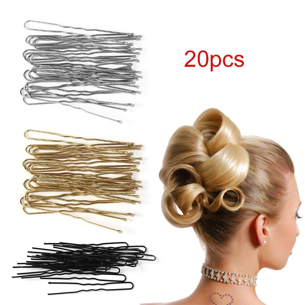 Antique Women Alloy Hairpin U Shaped Hair Stick Updo Hair Clip Jewelry Pins