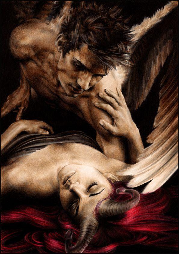 Картинки с демонами и ангелами любовь
