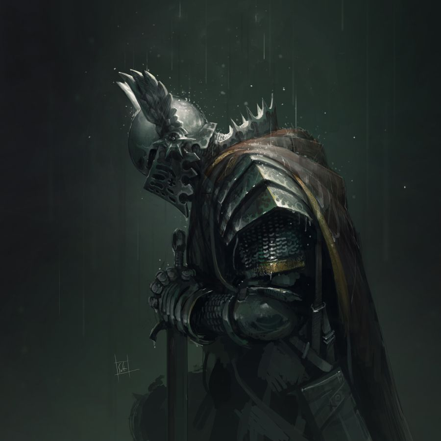 Rain by soft-h fighter soldier paladin knight sword platemail armor clothes clothing fashion ...