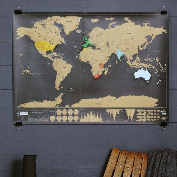 Deluxe scratch world map buy gifts online and homewares online deluxe scratch world map gumiabroncs Images