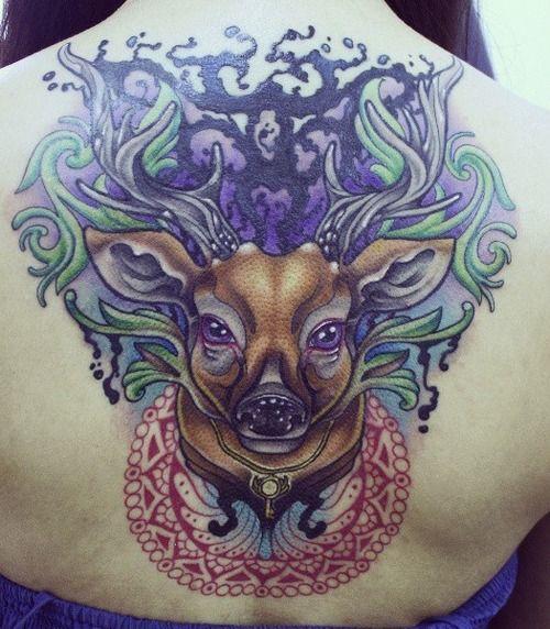 Neo Traditional Tattoo & Flash. Deer tattoo