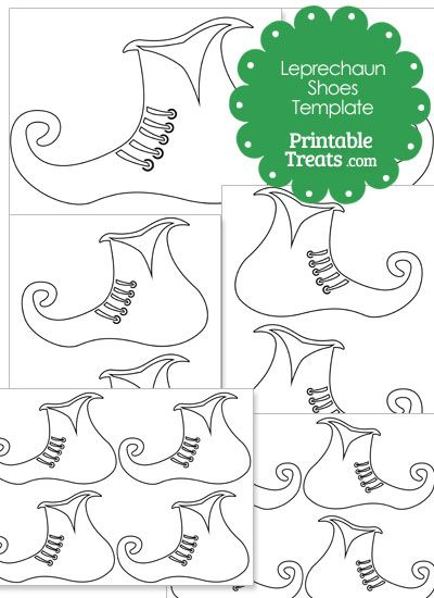 picture regarding Printable Leprechaun Templates named Printable Leprechaun Shoe Template towards