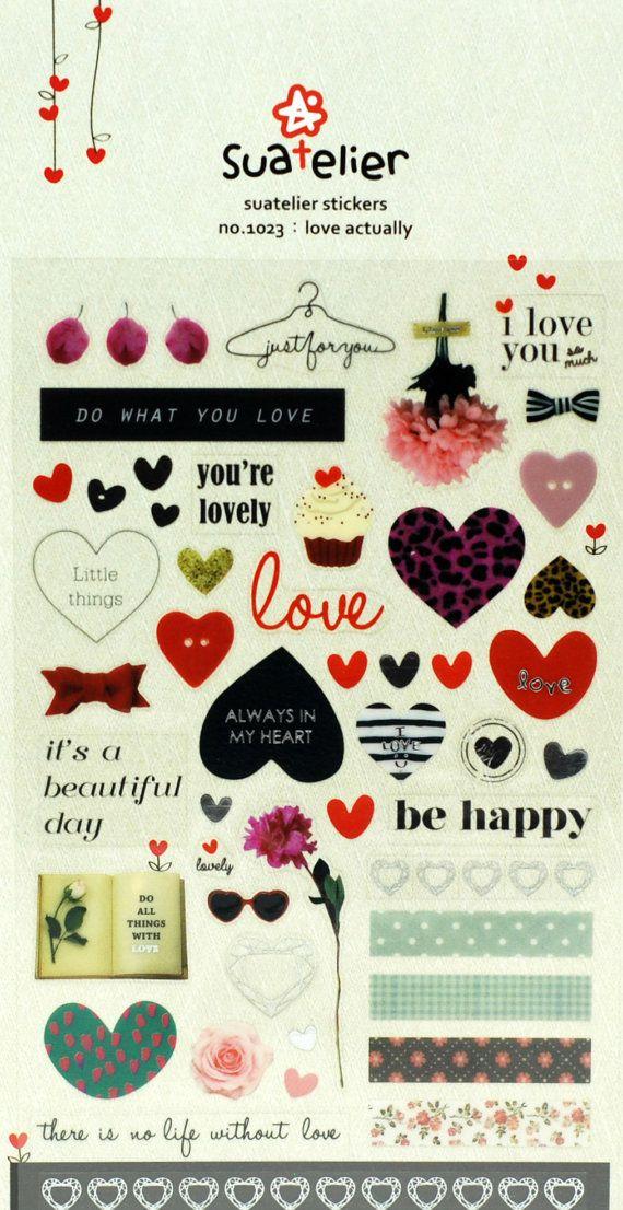 Love Stickers Scrapbooking Stickers Planner Stickers Erin Condren