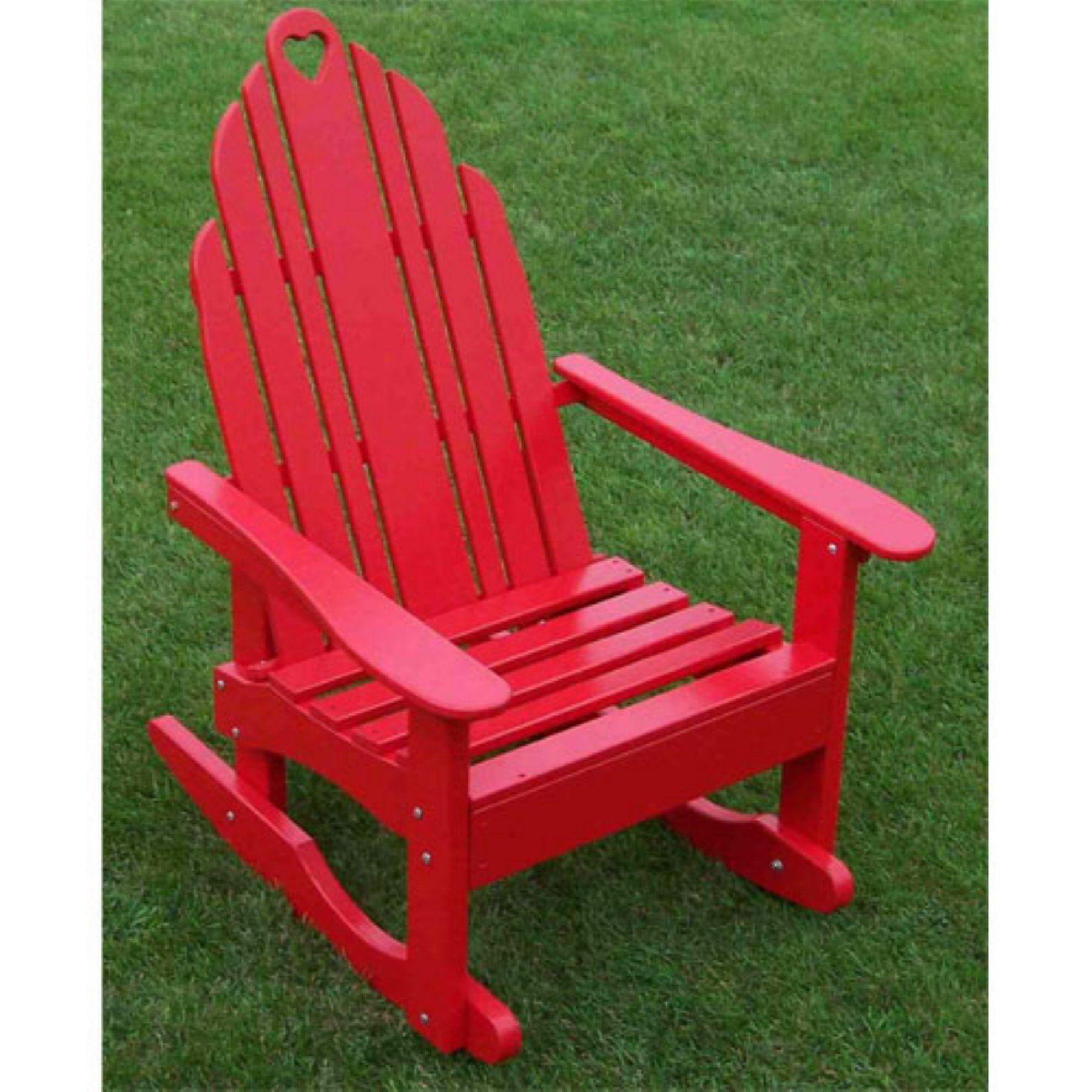 Outdoor prairie leisure country cottage adirondack rocker red