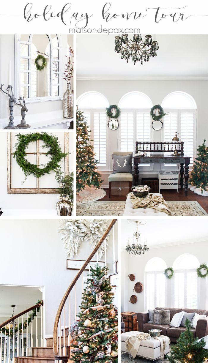 Christmas Home Tour | Simple christmas, Woodland christmas and Santa