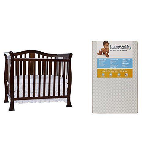 Dream On Me Naples 4 In 1 Convertible Mini Crib With Dream On Me 3 Portable Crib Mattress White Mini Crib Portable Crib Cribs