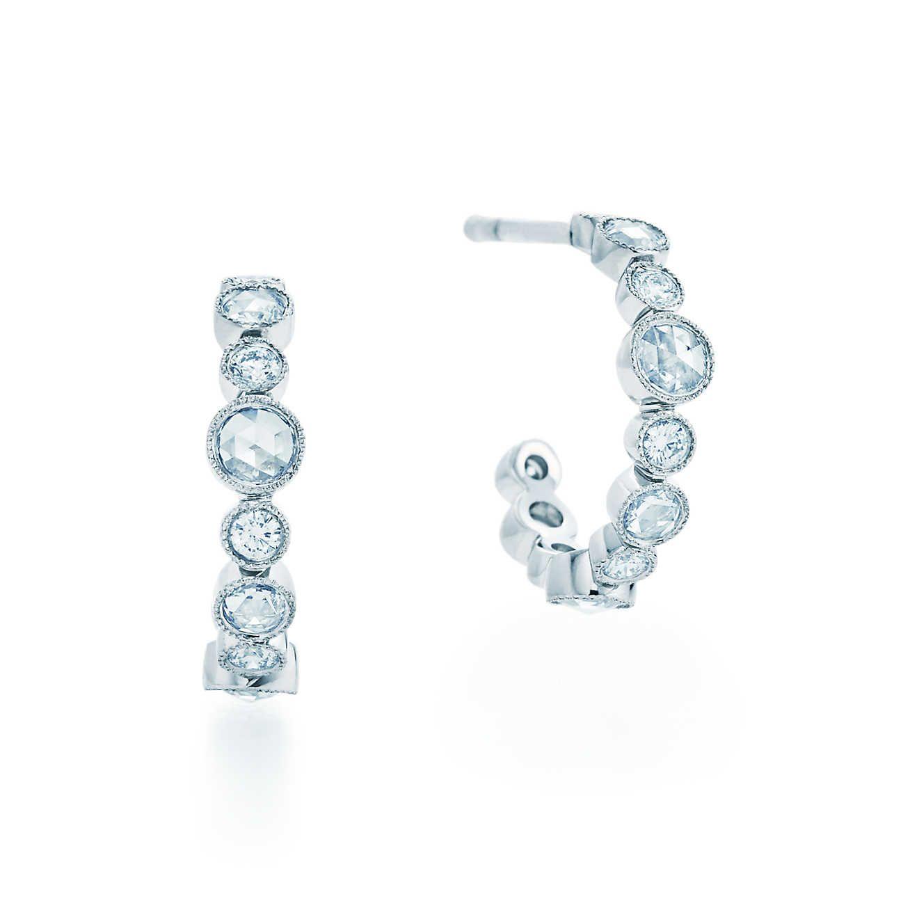Tiffany Cobblestone Diamond Hoop Earrings