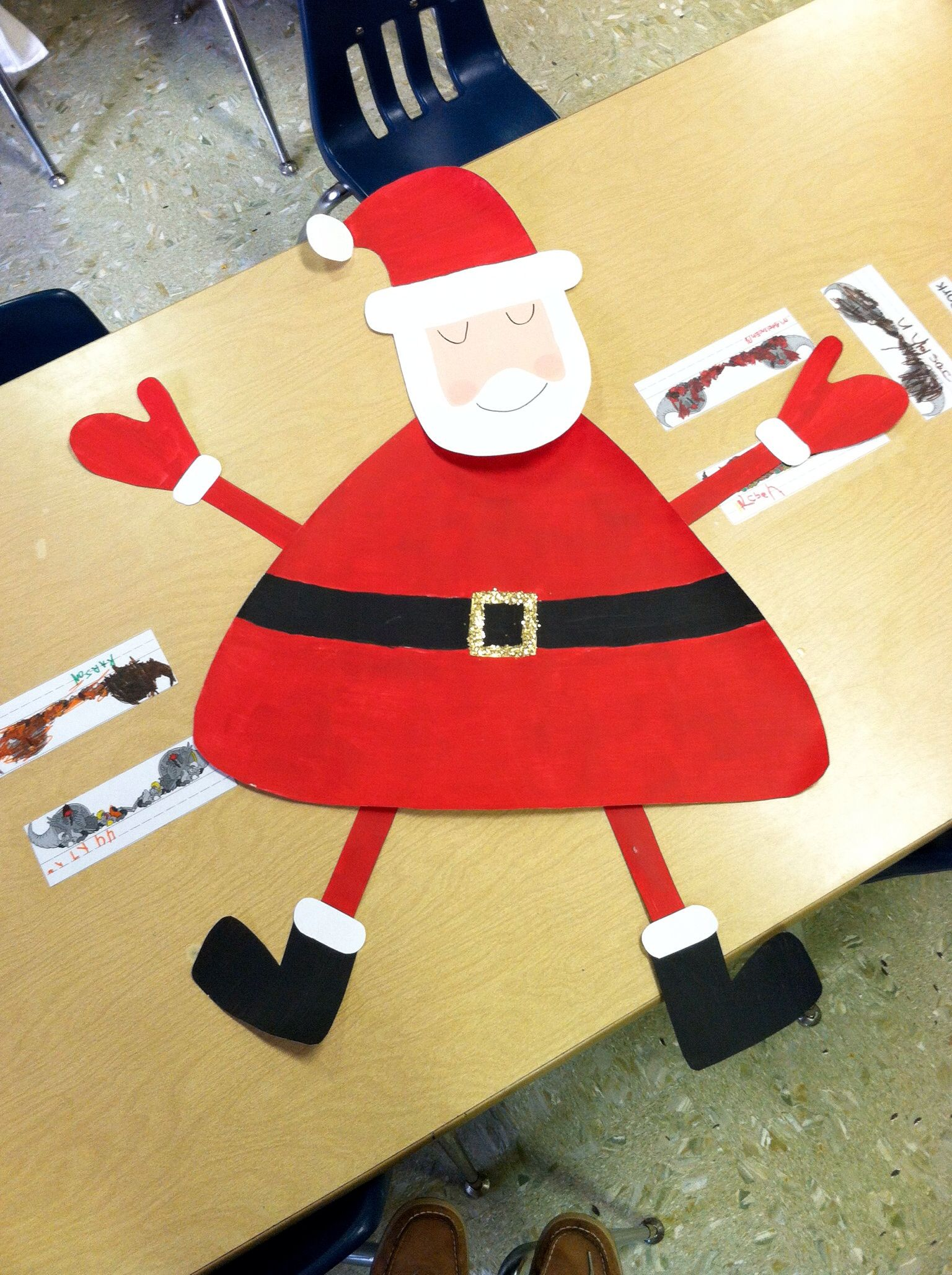 Santa Claus For A Class Bulletin Board