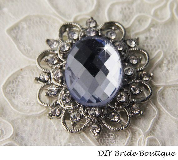 Light Sapphire Crystal brooch for DIY wedding Projects,by DIYBrideBoutique, $6.99
