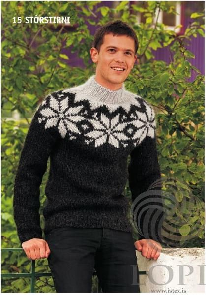 cf573721c5 Icelandic Stórstirni Mens Wool Sweater Black - Tailor Made - Nordic Store  Icelandic Wool Sweaters - 1