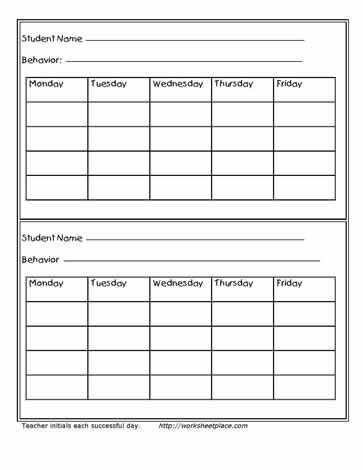 Weekly Behavior Tracking Contract Weekly Behaviour Contracts - sample behavior contract