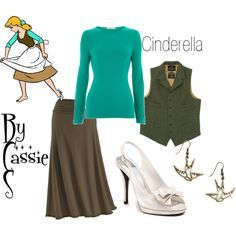 disneybound cinderella rags - Google Search