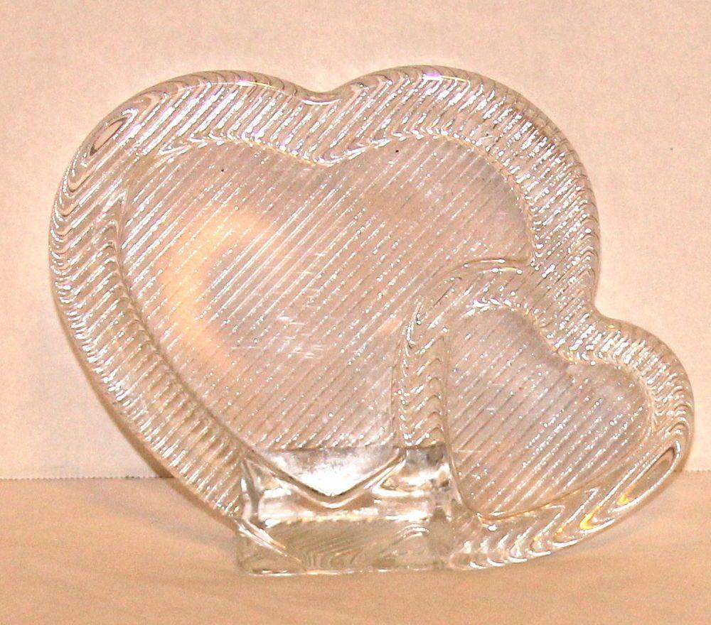 Mikasa Double Heart Photo Frame Clear Glass Wedding Anniversary ...