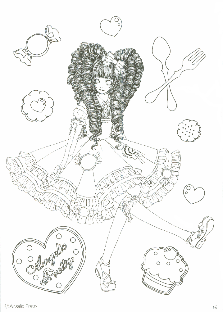 - AP Colouring Book Coloring Books, Cute Coloring Pages, Angelic Pretty
