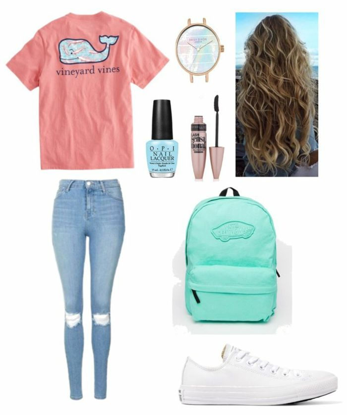 lovely cute highschool outfits 2019 16