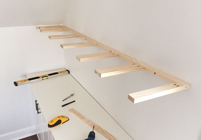 Adding Built Ins White Floating Shelves Around A Window