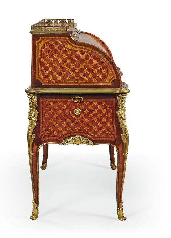 c1767-70 A LATE LOUIS XV ORMOLU-MOUNTED MARQUETRY AND PARQUETRY
