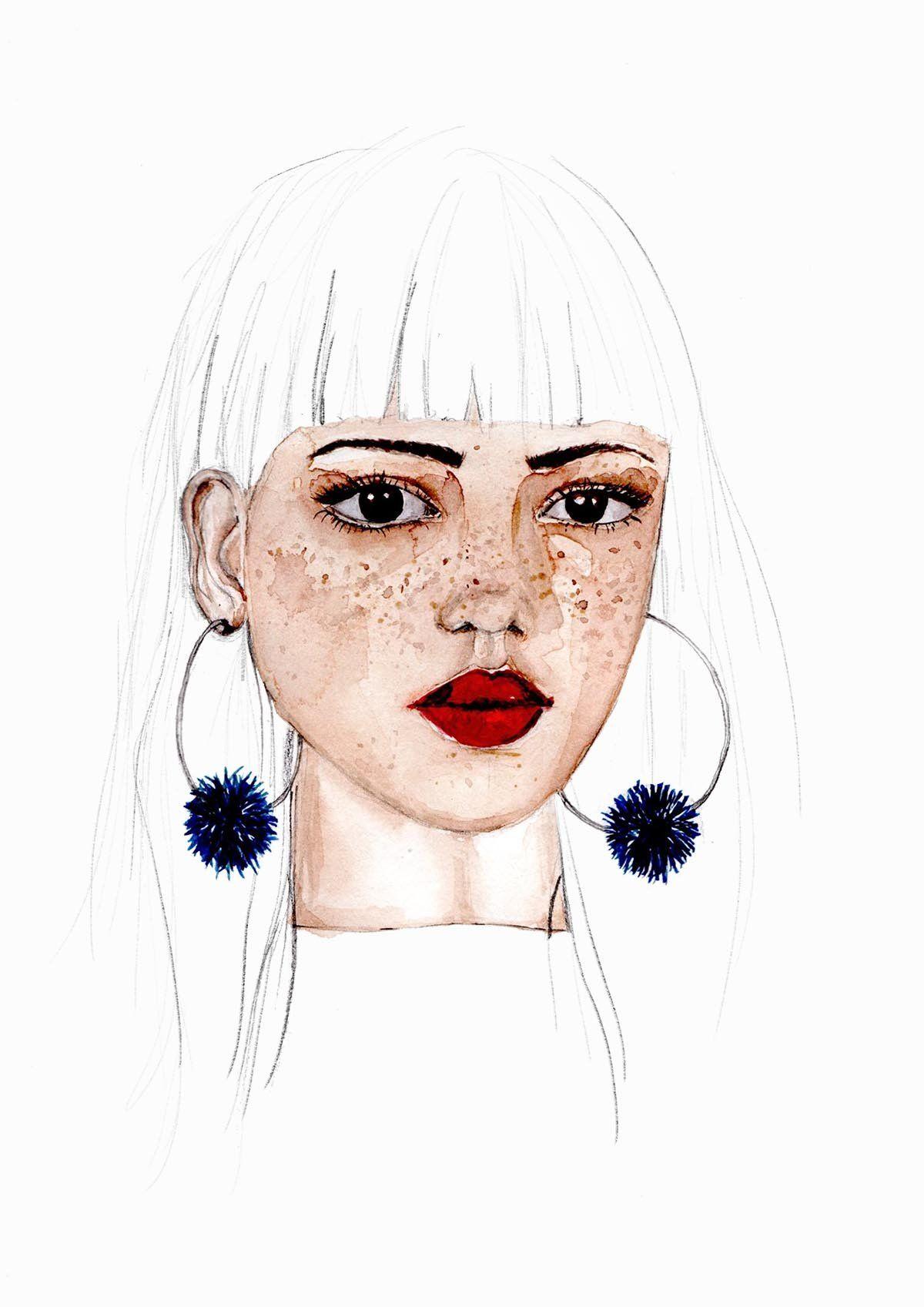 Gesichter zeichnen in 5 Schritten erklärt Illustration.