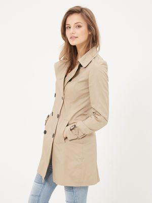 finest selection 4b8d9 3fd88 DOUBLE-BREASTED TRENCHCOAT, Silver Mink | Clothes wishlist ...