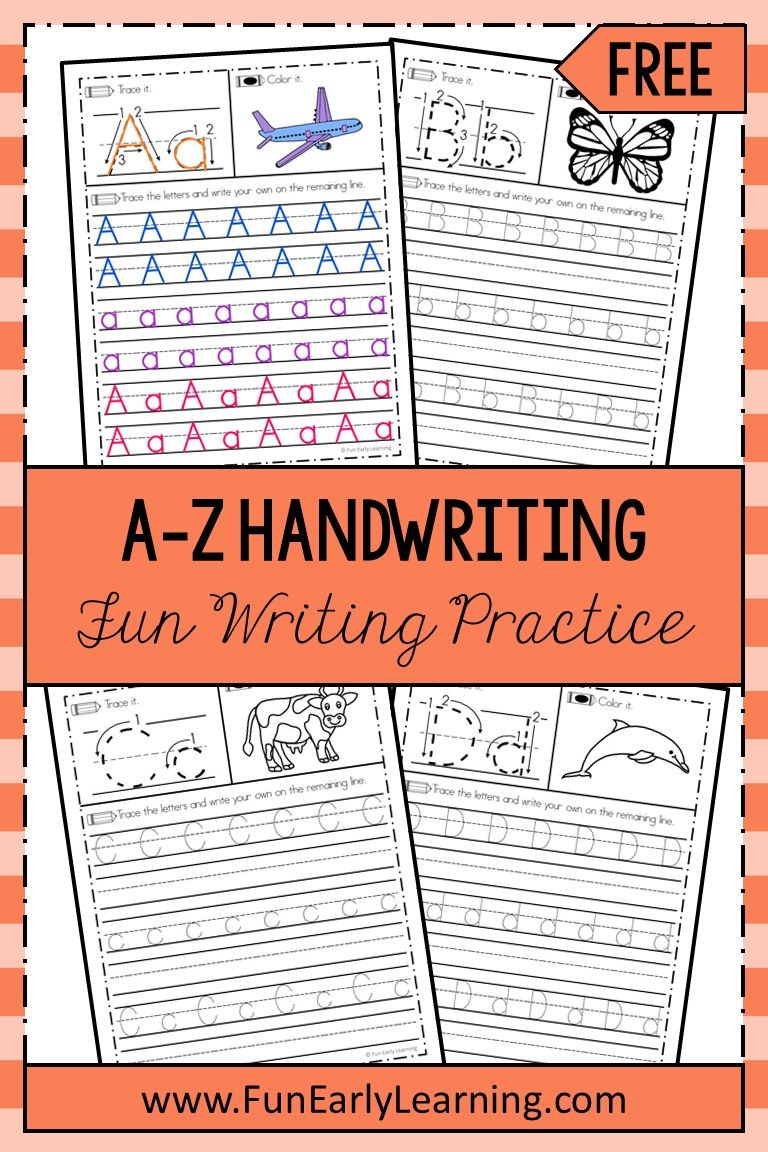 A Z Handwriting Practice Writing Activity Fun Early Learning