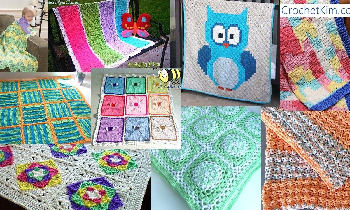 9 Baby Blankets free crochet patterns round up!