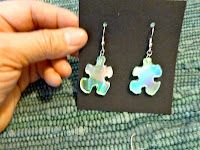 Make it easy crafts: Recycled CD and/or Duct Tape Puzzle Earrings #recycledcd