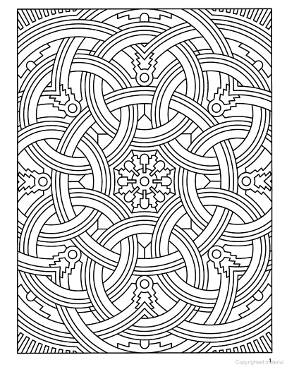 Deco Tech Geometric Coloring Book, Dover Publications. | Miss CrAfTy ...