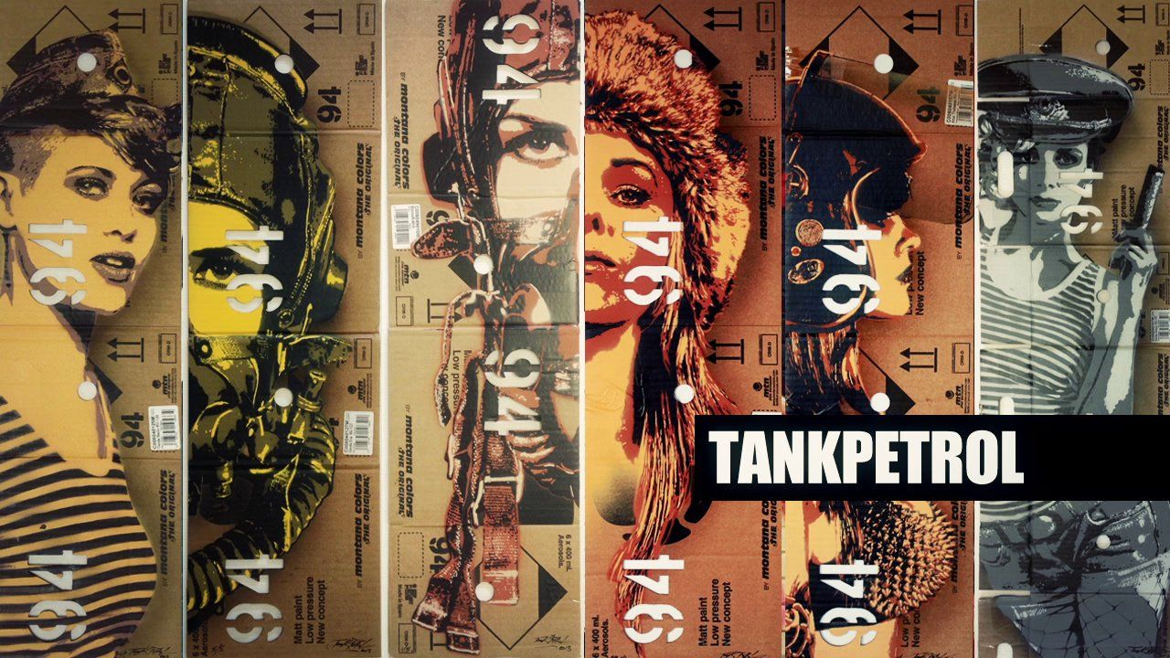 Tankpetrol is a Polish stencil artist living and working in Manchester. His stunningly detailed and military themed imagery of strong women are both powerful and beautiful at the same time making him a fast rising star in the street/urban art festival circuit. JB and Tom caught up with Tank during a short trip Berlin where he was invited to paint a mural at the head offices of the UN (Urban Nation). #graffiti #streetart #urbanart #berlin #stencil