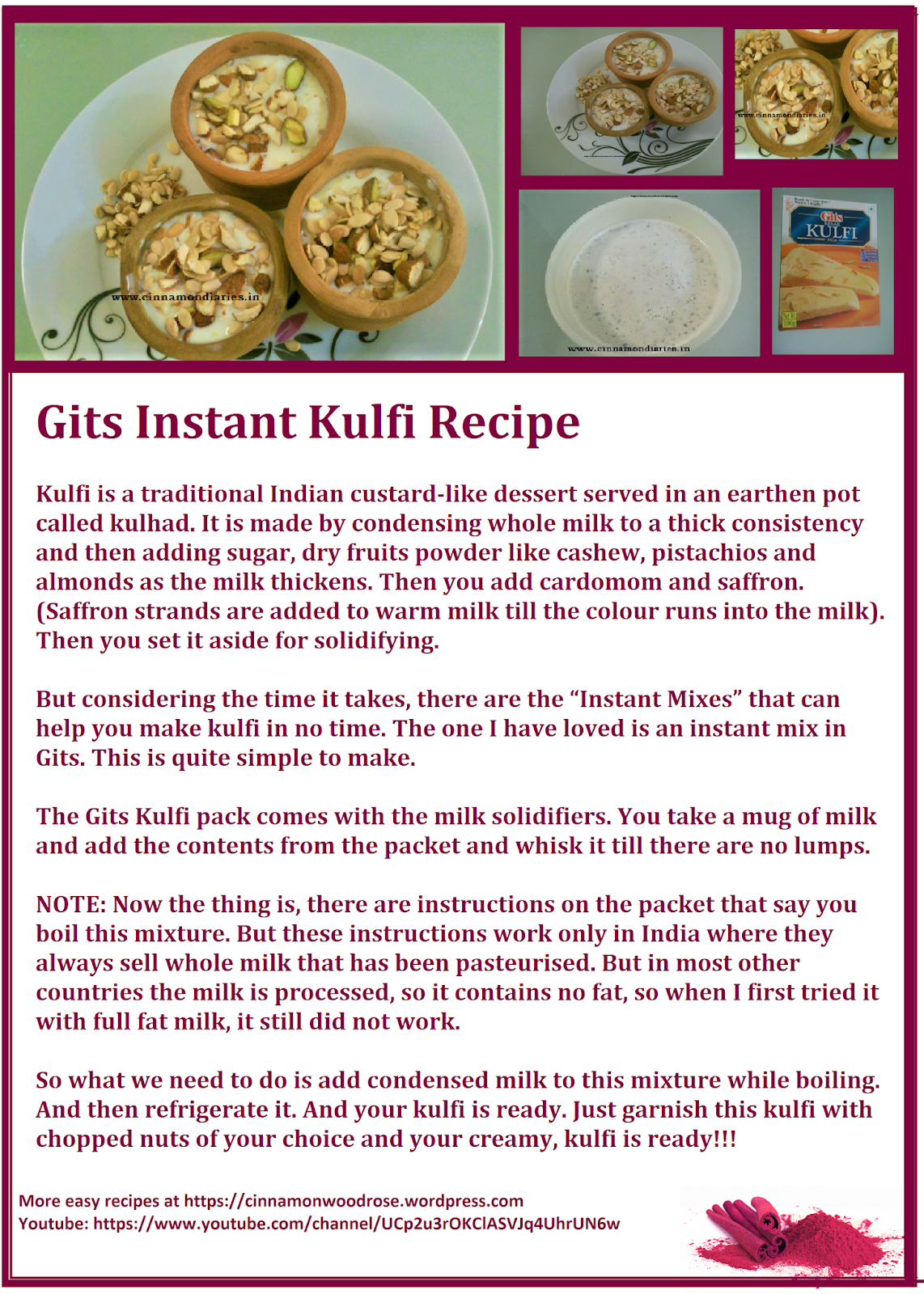Gits instant kulfi easy dessert recipe recipes dining gits instant kulfi easy dessert recipe forumfinder Image collections
