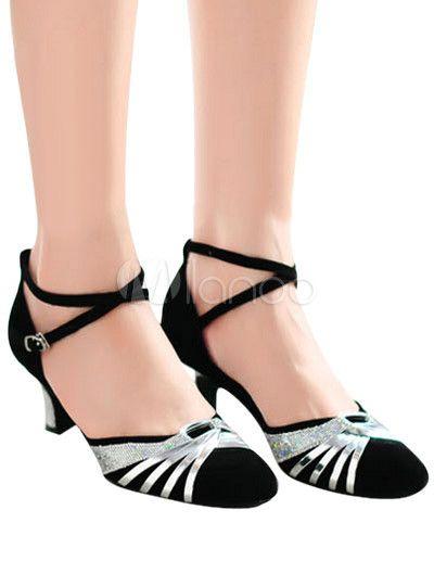 Zapatos de bailes latinos de ante de color-blocking ajCuvFf