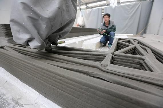 Chine  une maison à moins de 3 500 euros sort d\u0027une imprimante 3D
