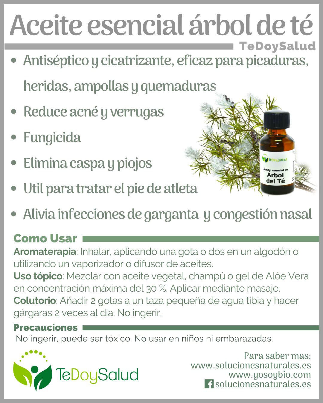 Aceite Esencial De árbol De Té Beneficios Aceite Arbol De Te Aceite Aceite De árbol De Té