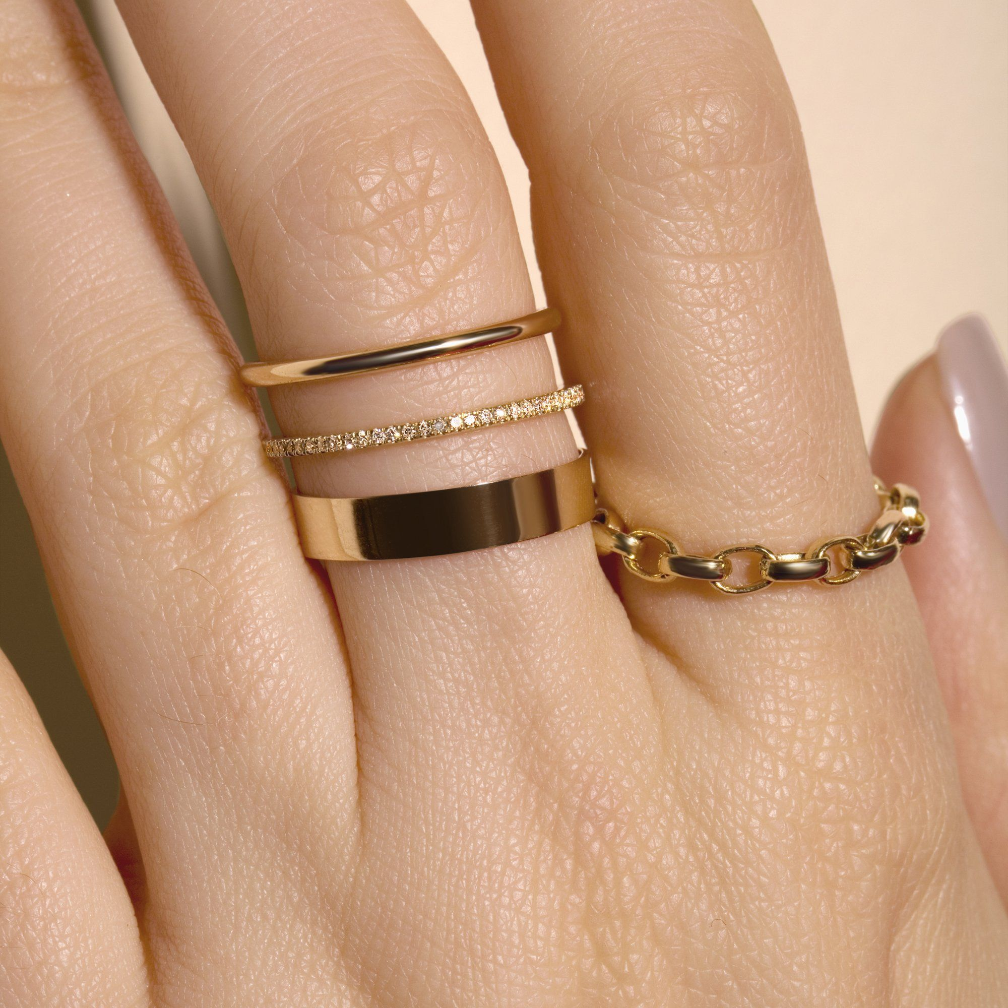 a92cf3252e197 Ultra Bold Cable Chain Ring in 2019 | Jewelry | Gold rings, Jewelry ...