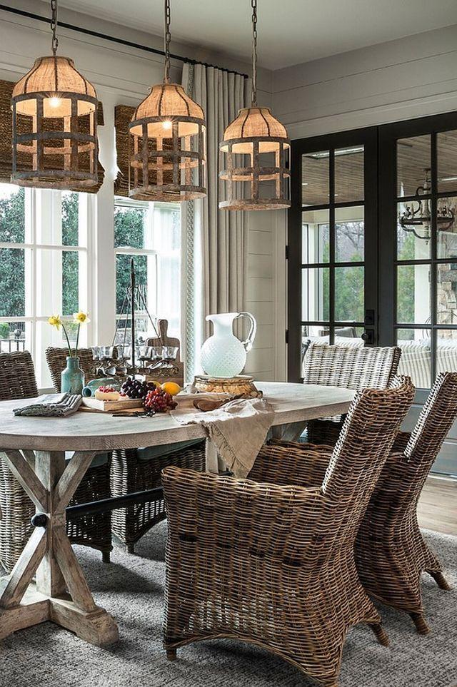 Coastal Farmhouse Style Dining Room (Home Bunch An