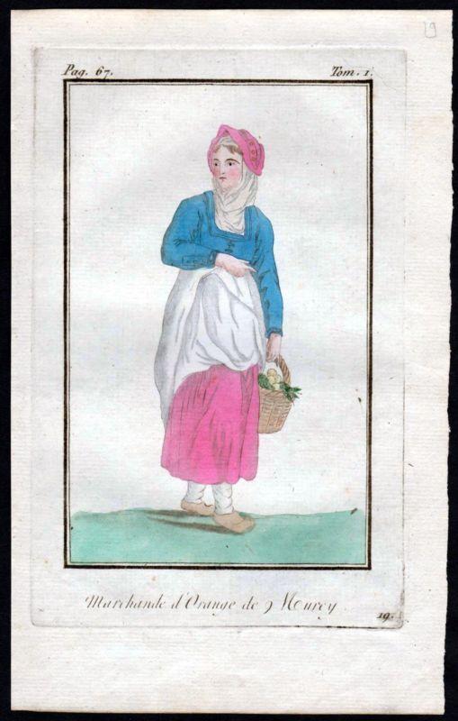 1780 Murcie Murcia Spanien Espana Spain costume Kupfers...