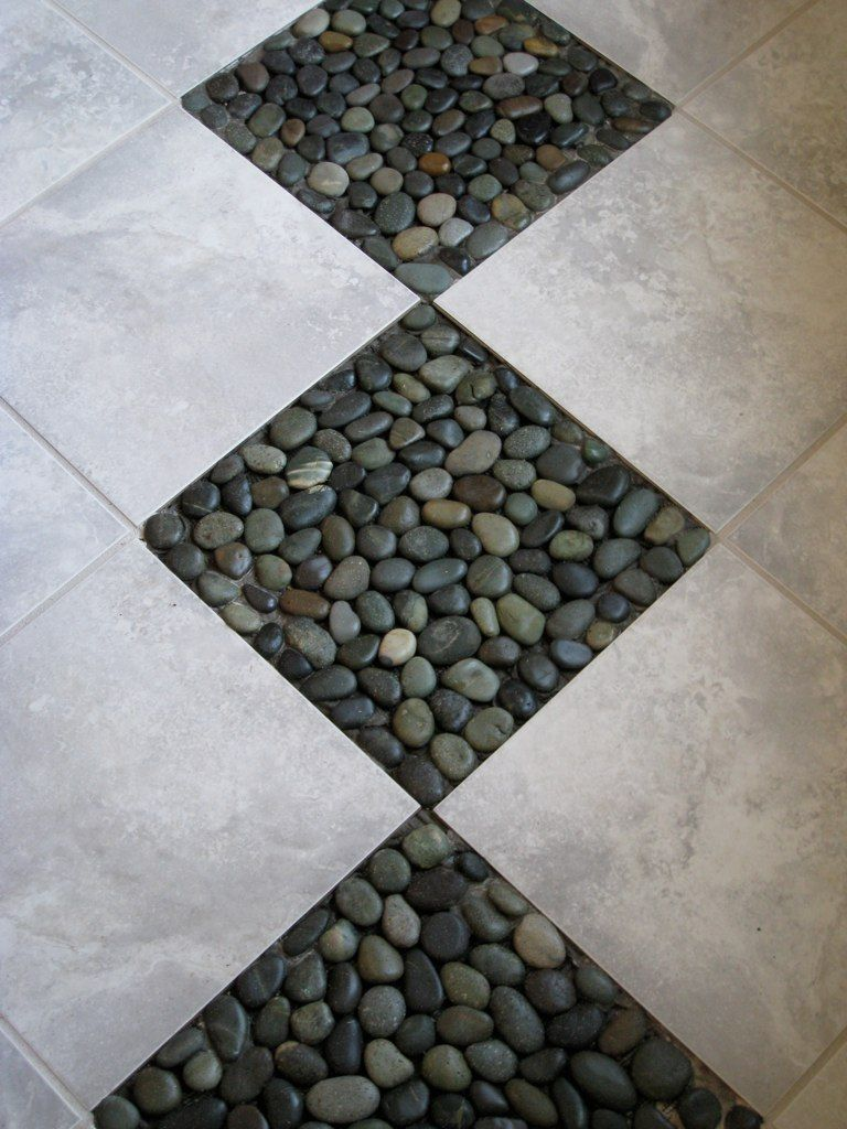 Depiction of River Rock Tile Sheets | Interior Design Ideas ...