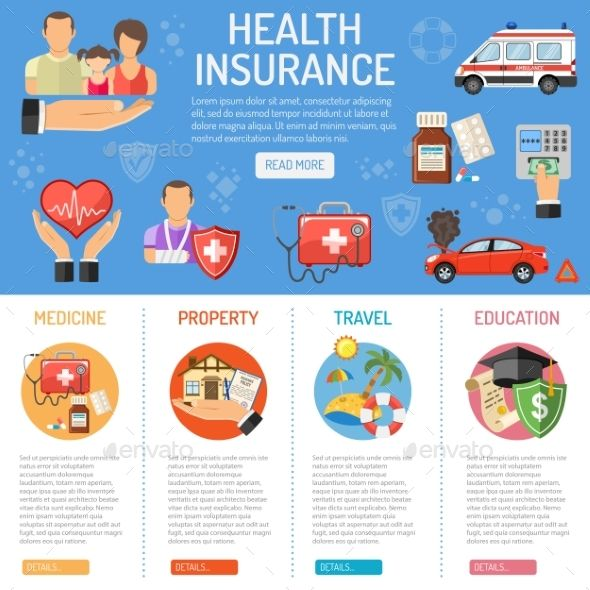 Insurance Services Infographics Flat Icons Set Infographic Flat Icon