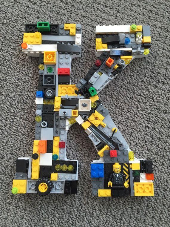 custom wall letter toy bricks k in stock