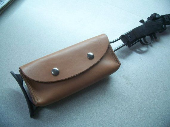 Leather stock pouch for Chiappa little Badger survival rifle ... 0b050da746