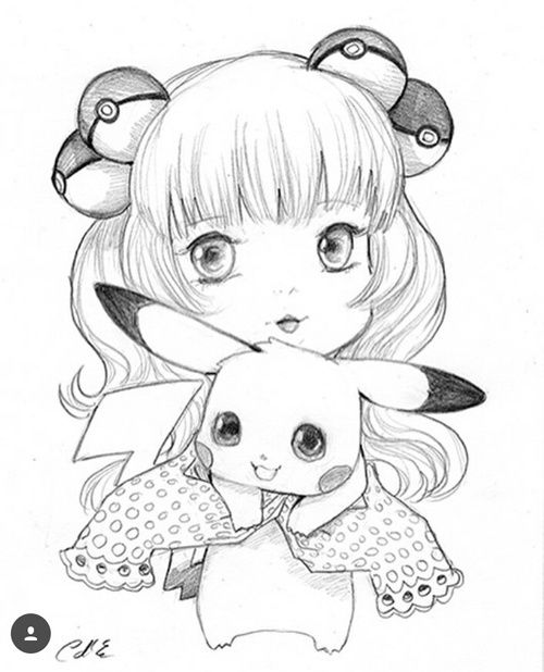 grafika anime, pikachu, and dibujo | Pokemon | Pinterest | Pikachu y ...